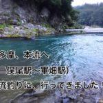 奥多摩、多摩川の二俣尾駅、軍畑駅の周辺に、渓流釣りに行ってきました。(入渓ポイント、駐車場など解説)