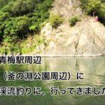 奥多摩、多摩川の青梅駅付近(釜の淵公園周辺)に渓流釣りに行ってきました。(入渓ポイント、駐車場など解説)