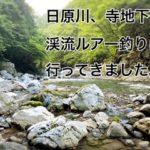 【2020年 奥多摩】日原川 寺地下に、渓流ルアー釣りに行ってきました。